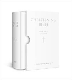 HOLY BIBLE: King James Version (KJV) White Compact|Christening Edition